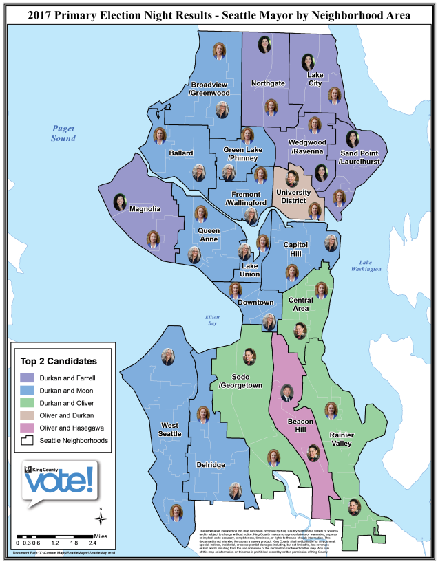 Seattle Primary Map